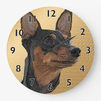 Reloj de pared del arte del Pinscher miniatura
