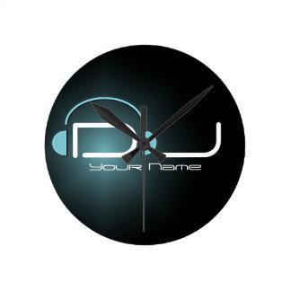 Reloj de pared del auricular de DJ