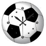 Reloj de pared del balón de fútbol