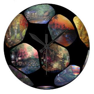 Reloj de pared del balón de fútbol (grande)