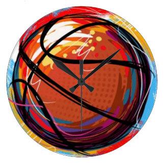 Reloj de pared del baloncesto