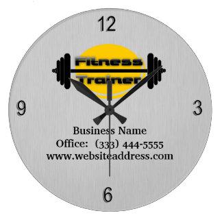 Reloj de pared del Barbell del instructor de la