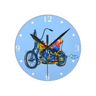 Reloj de pared del bebé de la bici del motor