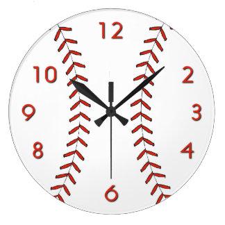 Reloj de pared del béisbol