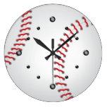 Reloj de pared del béisbol de los deportes
