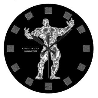 Reloj de pared del Bodybuilder