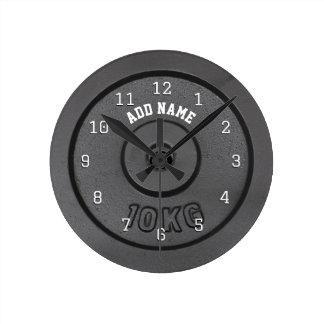 Reloj de pared del Bodybuilder del gimnasio