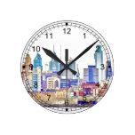 Reloj de pared del bosquejo del color de Philadelp