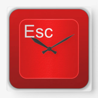 Reloj de pared del botón del ordenador del escape