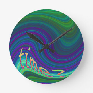 Reloj de pared del bucle temporal