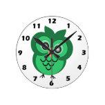 Reloj de pared del búho