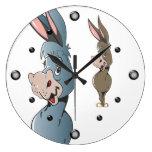 Reloj de pared del burro del dibujo animado