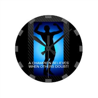 Reloj de pared del campeón