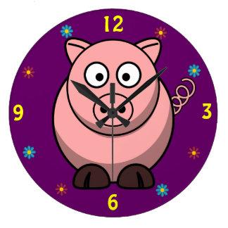 Reloj de pared del cerdo