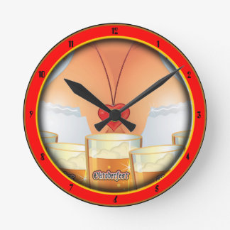 Reloj de pared del chica de la camarera de Oktober