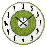 Reloj de pared del club de golf