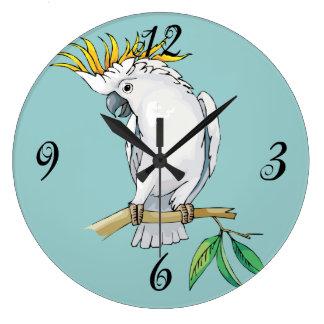 Reloj de pared del Cockatoo