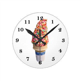 Reloj de pared del cono de helado