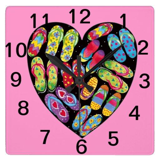 Reloj de pared del corazón del balanceo