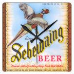 Reloj de pared del cuadrado de la cerveza de Sebew