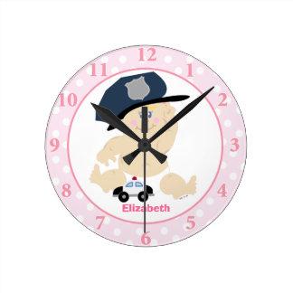 Reloj de pared del cuarto de niños del chica del r