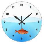 Reloj de pared del cuenco del Goldfish con números