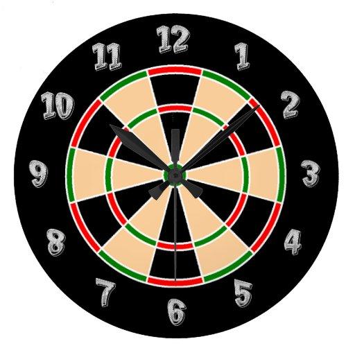 Reloj de pared del Dartboard