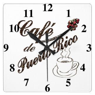 Reloj de pared del de Puerto Rico del café