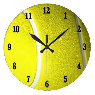 Reloj de pared del deporte de la pelota de tenis