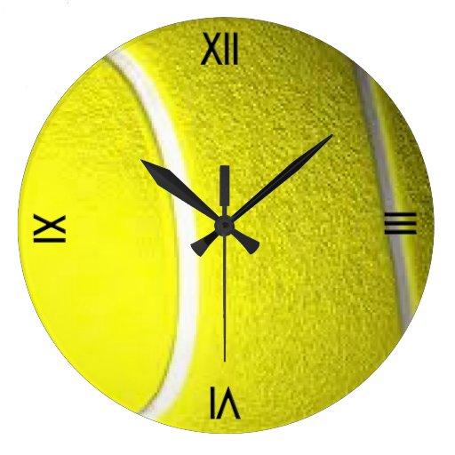 Reloj de pared del deporte de la pelota de tenis c