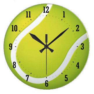 Reloj de pared del deporte del tenis el  