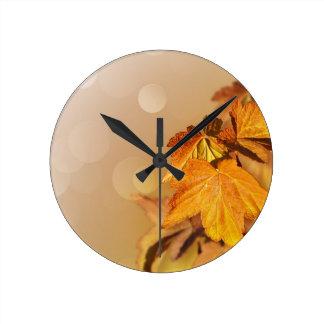 Reloj de pared del día de la acción de gracias