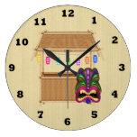 Reloj de pared del dibujo animado de la choza de T