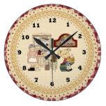 Reloj de pared del dibujo animado de la cocina de