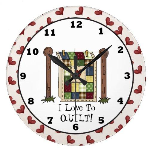 Reloj de pared del dibujo animado del amor que aco