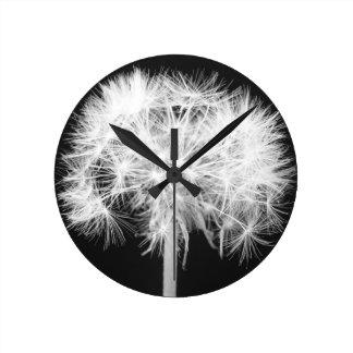 Reloj de pared del diente de león