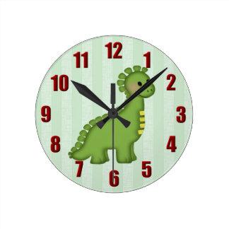Reloj de pared del dinosaurio