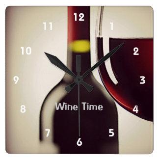 Reloj de pared del diseño de la botella y del vidr