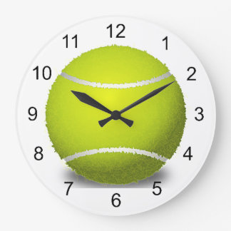 Reloj de pared del diseño de la pelota de tenis