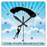 Reloj de pared del diseño de Skydiving