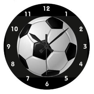 Reloj de pared del diseño del balón de fútbol