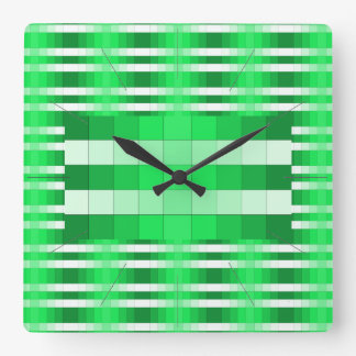 Reloj de pared del diseño del color del verde de