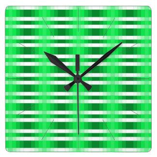 Reloj de pared del diseño del color del verde de m