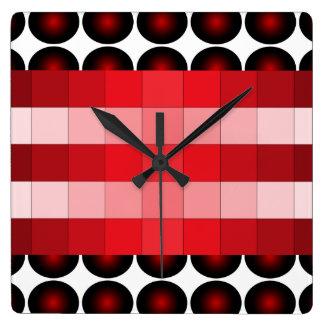 Reloj de pared del diseño del color del vino rojo