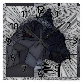 Reloj de pared del diseño del estilo del vitral de