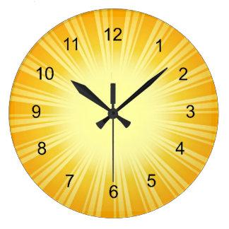 Reloj de pared del diseño del resplandor solar del