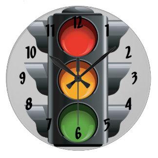 Reloj de pared del diseño del semáforo