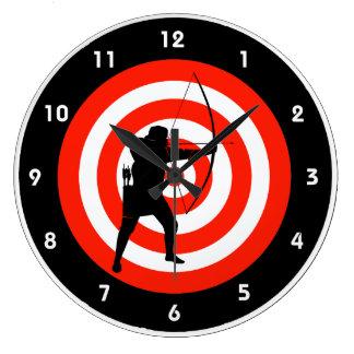 Reloj de pared del diseño del tiro al arco