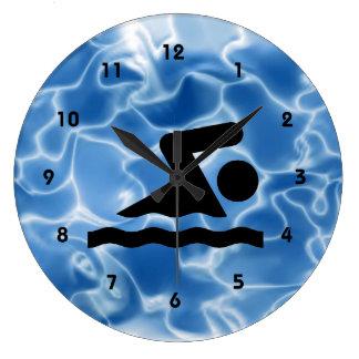 Reloj de pared del diseño que nada