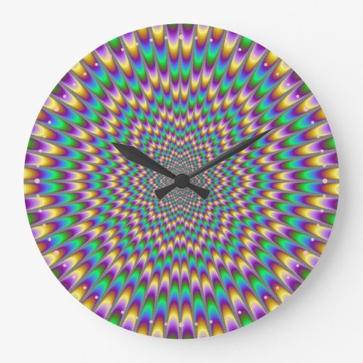 Reloj de pared del doblador del ojo